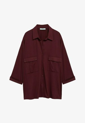 COSTA - Button-down blouse - granatrot