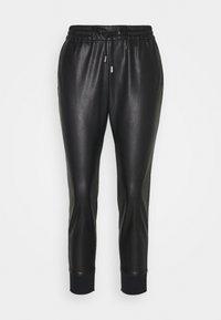 Rich & Royal - JOGG PANTS FAKE LEATHER - Kalhoty - black - 0