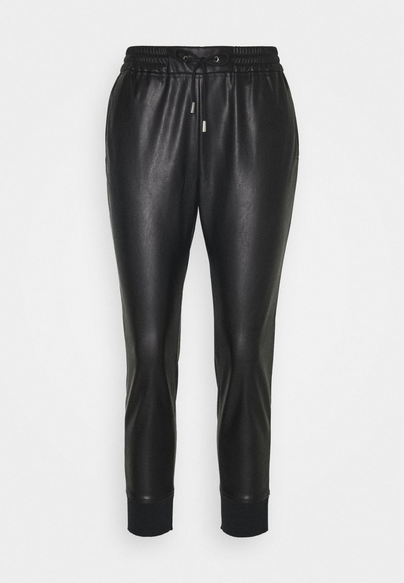 Rich & Royal - JOGG PANTS FAKE LEATHER - Kalhoty - black
