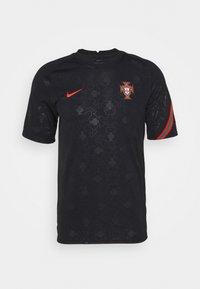 Nike Performance - PORTUGAL  - Print T-shirt - black/challenge red - 4