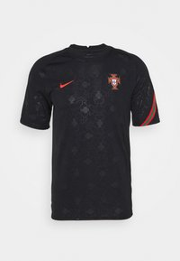 PORTUGAL  - Print T-shirt - black/challenge red