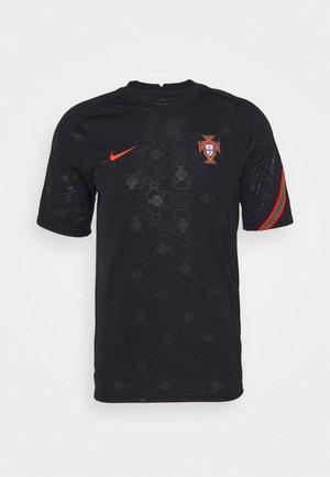 PORTUGAL  - T-shirt imprimé - black/challenge red