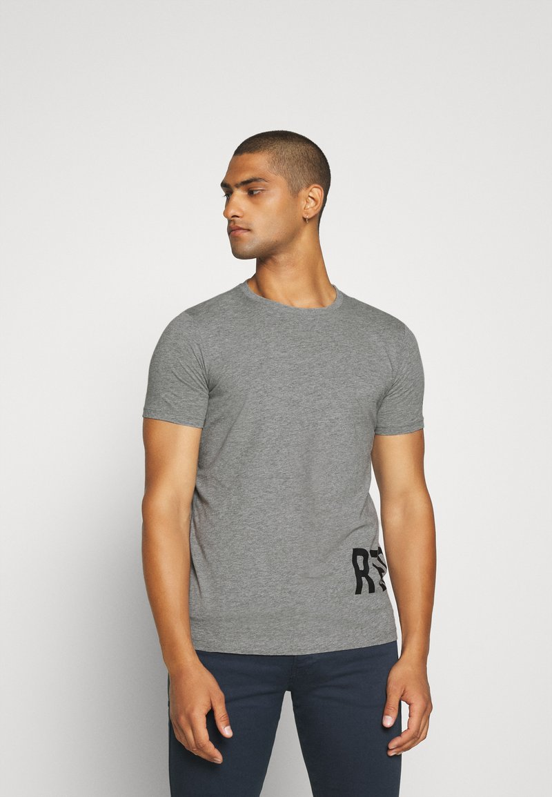 Replay - T-shirt con stampa - grey
