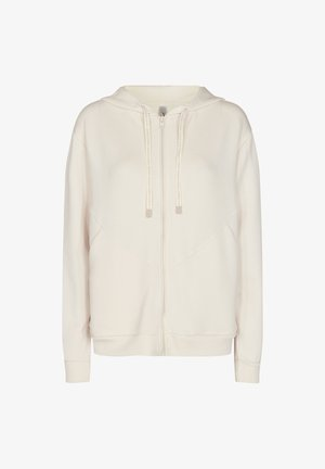 Zip-up hoodie - cream