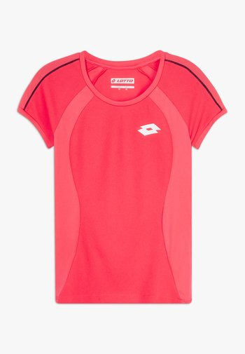 SQUADRA TEE  - Print T-shirt - red fluo