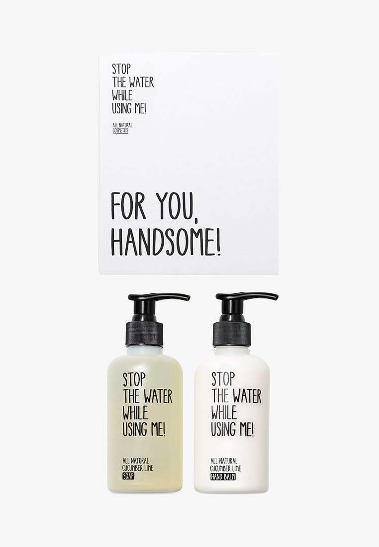 STOP THE WATER WHILE USING ME! - ALL NATURAL HAND KIT SOAP 200ML & HANDBALM 200ML - Bad- & bodyset - cucumber lime