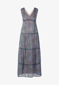 Apart - DRESS WITH VOLANTS - Maksimekko - petrol/multicolor - 5