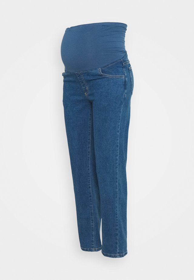 MATERNITY STRETCH OVER BELLY - Straight leg -farkut - coogee blue