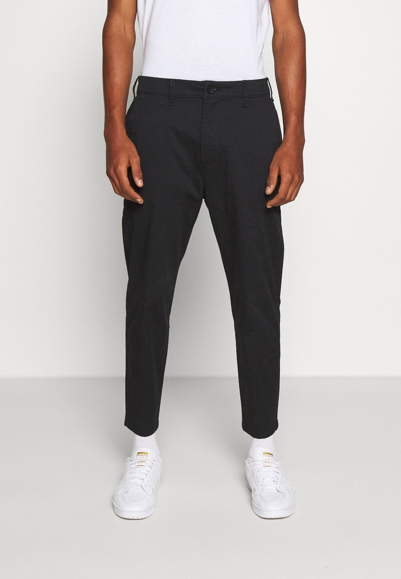 Hollister Co. - TAPER CROP - Chinos - black