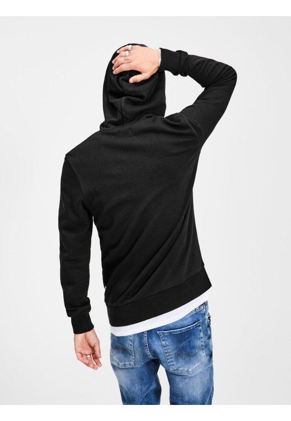 Jack & Jones JJECORP LOGO HOOD - Bluza z kapturem - black/czarny Odzież Męska FVKD