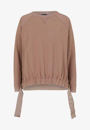 Sweatshirt - dunkelbeige