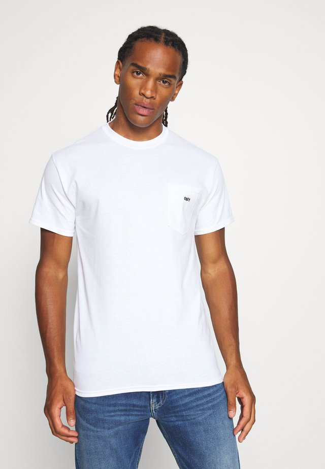 JUMBLED BASIC POCKET TEE - T-shirt basic - white