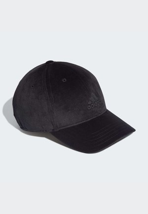 VELVET BASEBALL CAP - Caps - black