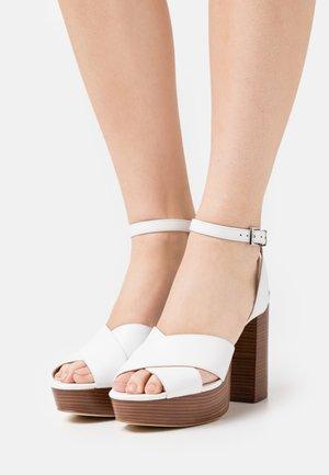 ODETTE PLATFORM - High heeled sandals - optic white