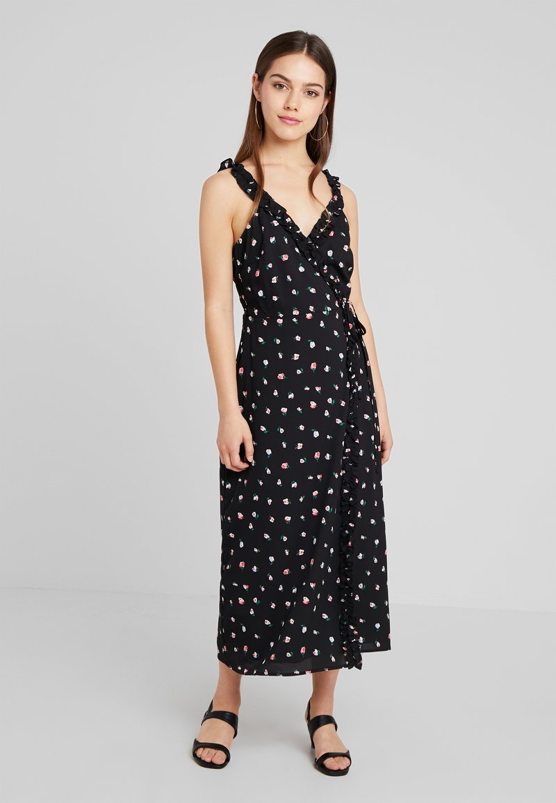 Fashion Union Petite - PRINT MAXI DRESS WITH RUFFLED CAMI STRAPS - Długa sukienka - multi-coloured