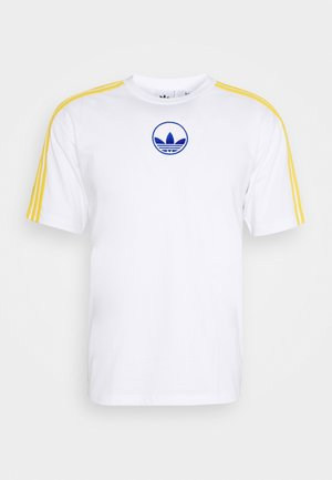 STRIPE CIRCLE - T-shirt imprimé - white