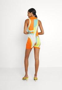 Jaded London - SLEEVELESS INTARSIA ROMPER ABSTRACT ART - Jumpsuit - orange/white/yellow/green - 2
