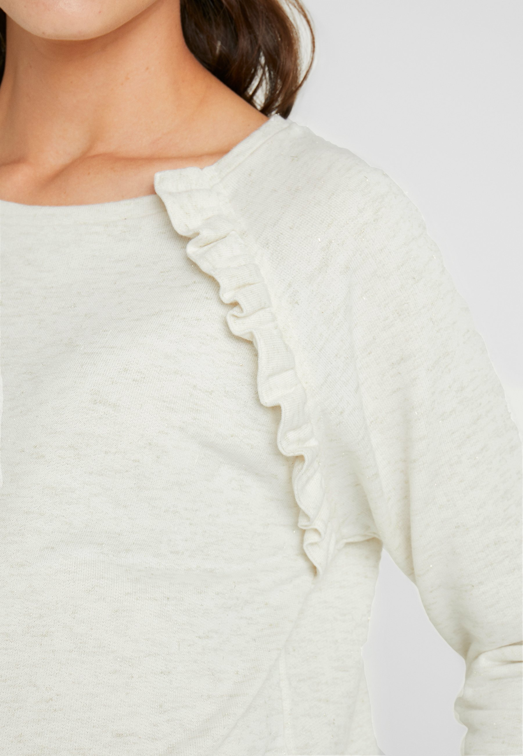 Seraphine Ivanna Frill Detail Nursing - Sweatshirt Sandgold/offwhite