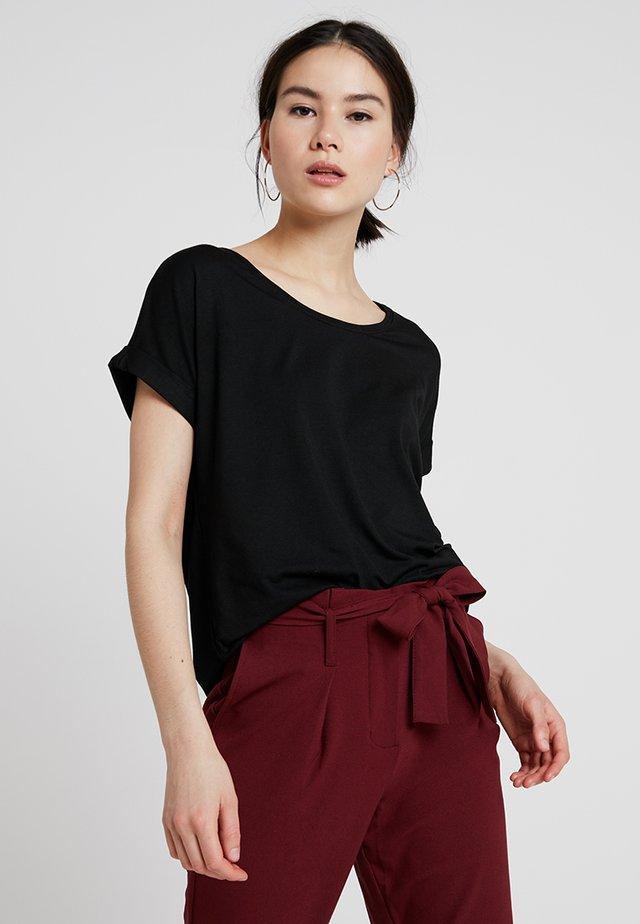 ONLMOSTER ONECK - Camiseta básica - black/solid black