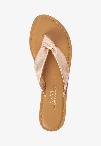 T-bar sandals - rose gold-coloured