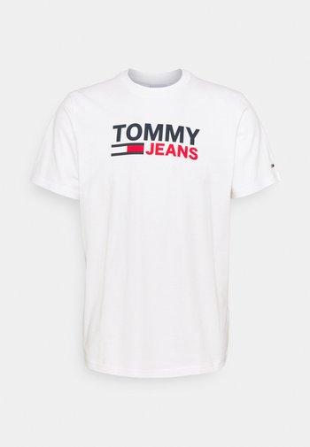 CORP LOGO TEE - T-shirt med print - white
