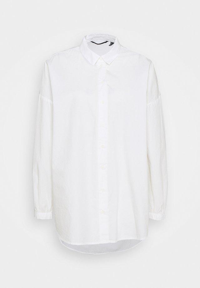 VMNAJA LONG - Button-down blouse - snow white