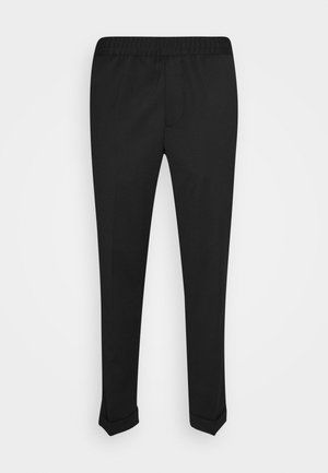 M. TERRY CROPPED TROUSER - Trousers - black