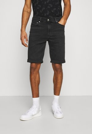 Denim shorts - denim black