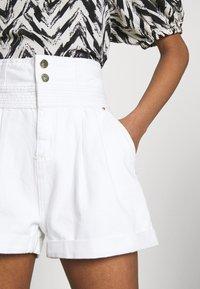 River Island - Denim shorts - white - 5