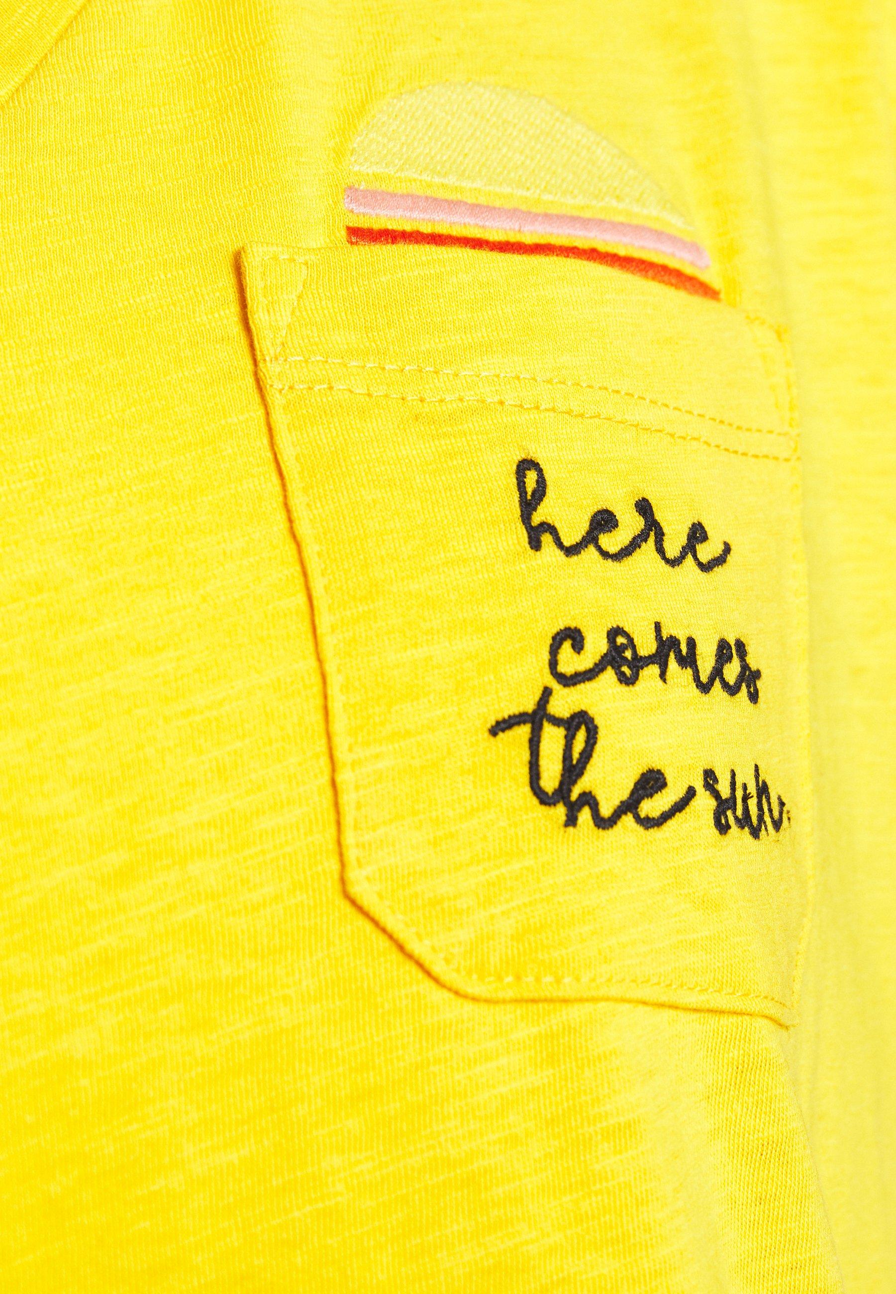 TOM TAILOR Camiseta estampada - deep golden yellow 9s9pP