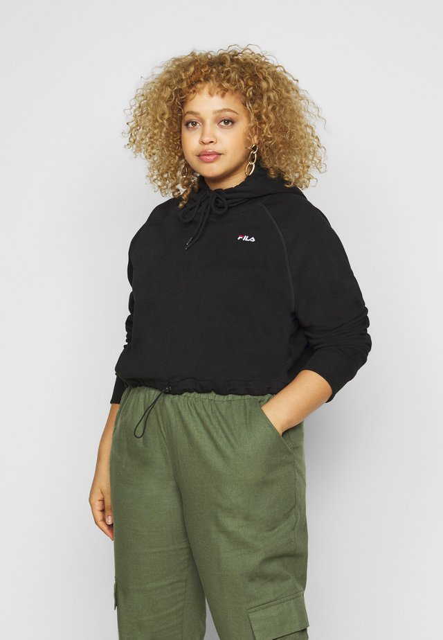 ELAXI CROPPED HOODY - Sweat à capuche - black