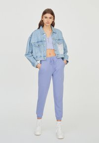 PULL&BEAR - Tracksuit bottoms - purple - 1