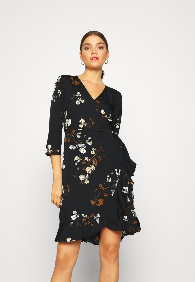 Vero Moda - VMHENNA WRAP DRESS - Kjole - black