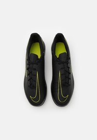 Nike Performance - PHANTOM GT CLUB IC - Indoor football boots - black/cyber/light photo blue - 3