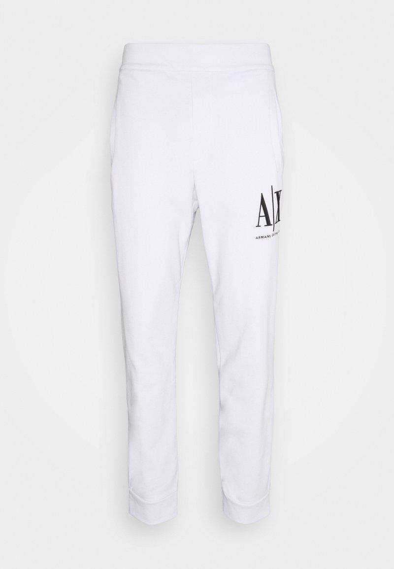 Armani Exchange - JOGGER - Tracksuit bottoms - white