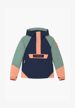 ANORAK - Snowboard jacket - blue/mint/apricot