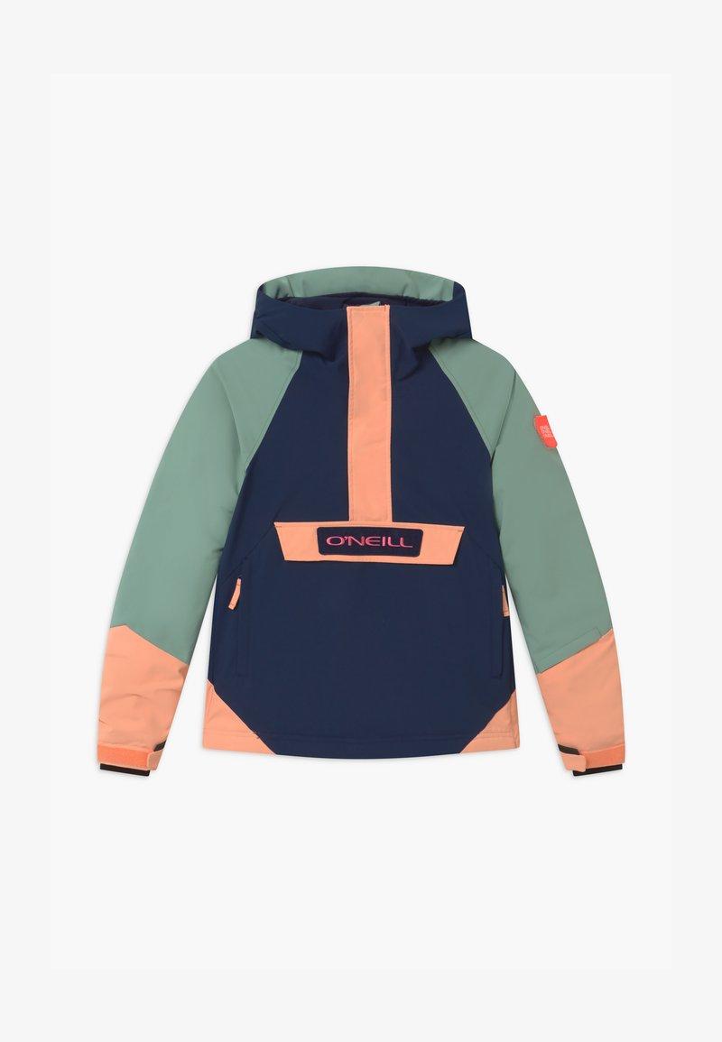 O'Neill - ANORAK - Snowboardová bunda - blue/mint/apricot
