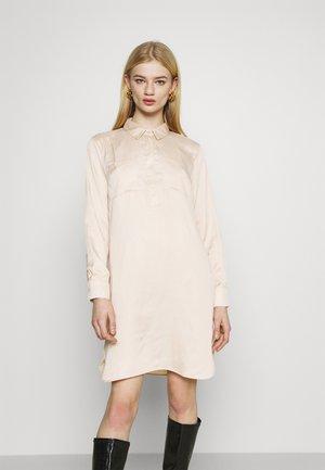 HALF PLACKET SHIRT DRESS - Abito a camicia - beige