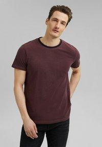 Esprit - Basic T-shirt - berry red - 0