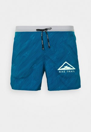 STRIDE TRAIL - Sports shorts - valerian blue/particle grey/barely volt