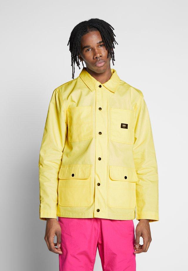 DRILL CHORE COAT LINED - Chaqueta fina - light yellow