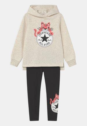 CAT EAR HOODIE SET - Sweatshirt - black