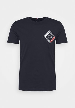 CORP DIAMOND TEE - T-shirt z nadrukiem - blue