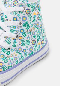 Converse - CHUCK TAYLOR ALL STAR FLORAL - High-top trainers - white/twilight pulse/citron pulse - 5