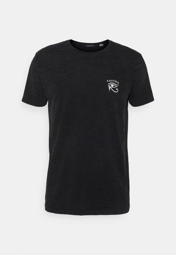 GARDENS - T-shirt med print - black