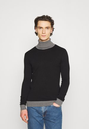 COBY - Jumper - black/dark grey melange