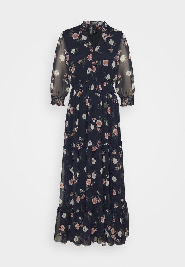 VMTALLIE FLOUNCE DRESS - Robe longue - navy blazer