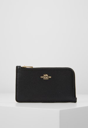 SMALL L ZIP CARD CASE - Portfel - black