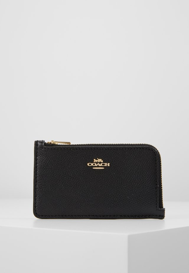 SMALL L ZIP CARD CASE - Portemonnee - black