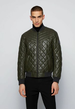 JECEY - Leather jacket - open green